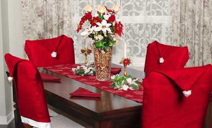 christmas chair covers the range office mat 46 x 60 seasonal decor deals discounts groupon shop santa hat 4 pack or 8