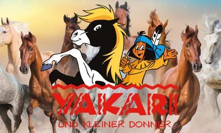 """Ticket für die Familien Show """"Yakari und Kleiner Donner"""" u. a. in Darmstadt, Hannover und Leipzig (30% sparen)"""