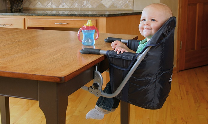 portable baby high chair hook on wicker swivel rocker patio chairs regalo easy diner | groupon goods