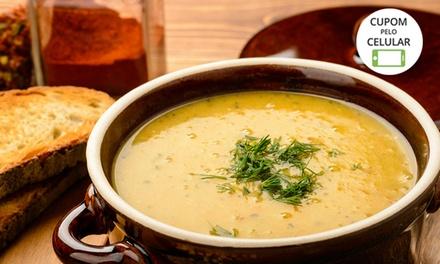 Buffet de sopa para 1 ou 2 pessoas na Bella Tamboré Pães & Doces – Santana de Parnaíba