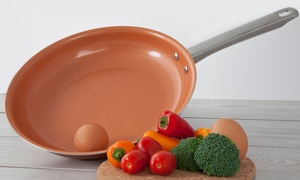 image for Non-Stick Ceramic-Coated Copper Fry Pan Set (3-Piece) or Individual