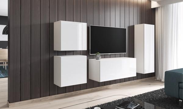 meuble tv mural en finition mate