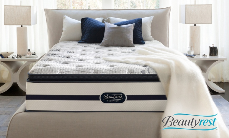 closeout simmons beautyrest recharge plush pillowtop mattress set free white glove delivery 10 yr limited warranty