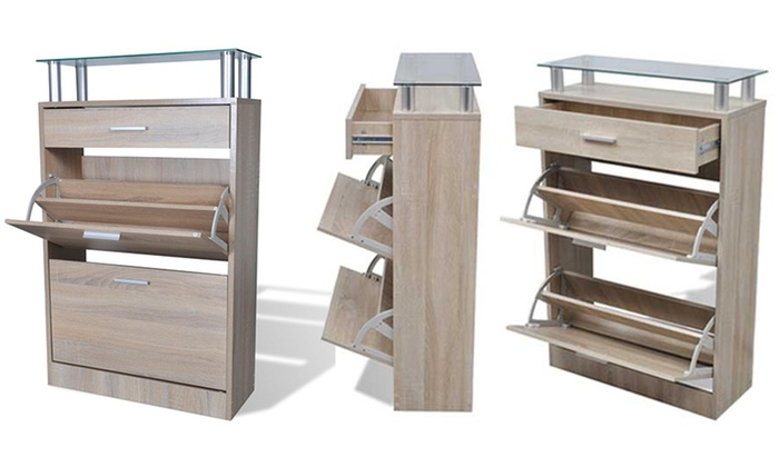Mueble zapatero de madera VidaXL  Groupon