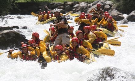 Esperienza rafting sul fiume Noce e percorso avventura per 2 o 4 persone allExtreme Waves Centro Rafting in Val di Sole