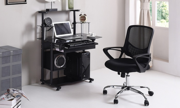 desk chair groupon convert aeron to stool hodedah mesh office goods