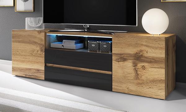 meuble tv bros avec eclairage led