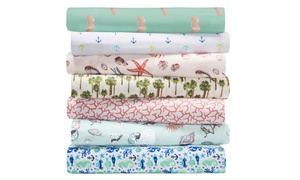image for Hotel Coastal-Printed Microfiber Sheet Sets (3- or 4-Piece)