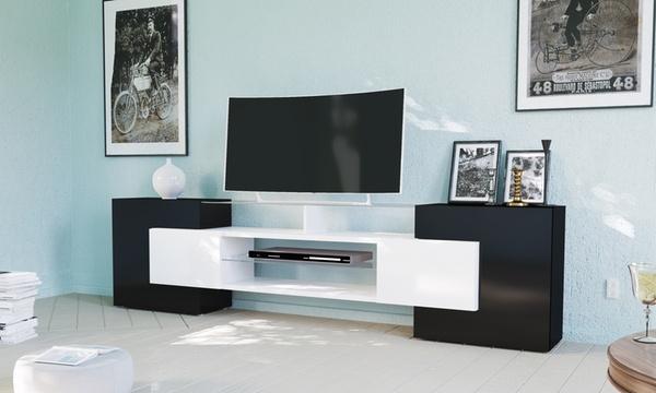 meuble tv design italien avec 4 compartiments