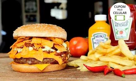 Bulls Sanduicheria Bar   Jardim das Américas: hambúrguer com fritas