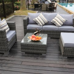 Palermo Rattan Effect Corner Sofa Set Cover Side Laptop Table Vancouver Sets Two Sizes Groupon