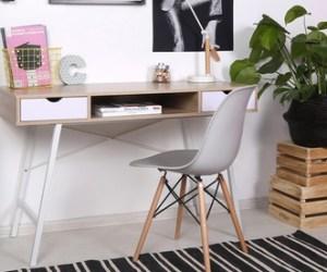 Selsey Living Schreibtisch Gavle im skandinavischenDesign in Sonoma-Eiche/Weiß