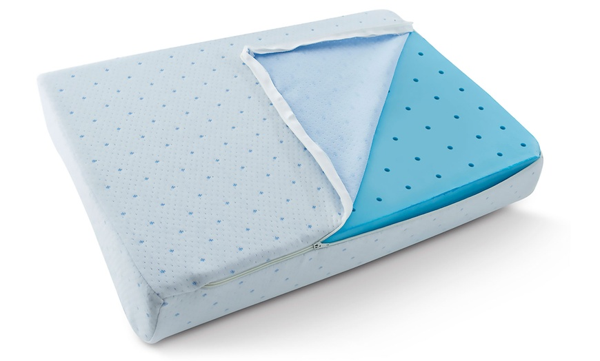 arctic sleep cool blue memory foam pillow 2 pack