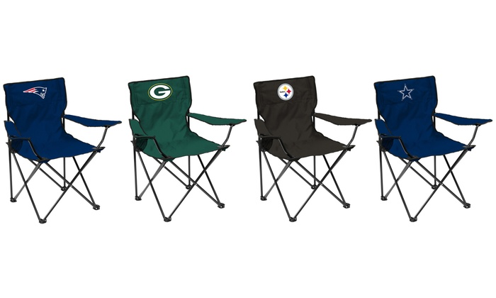 folding quad chair chairman mao nfl with cup holder and carrying bag groupon