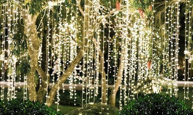 LED String Curtain Fairy Lights Groupon Goods