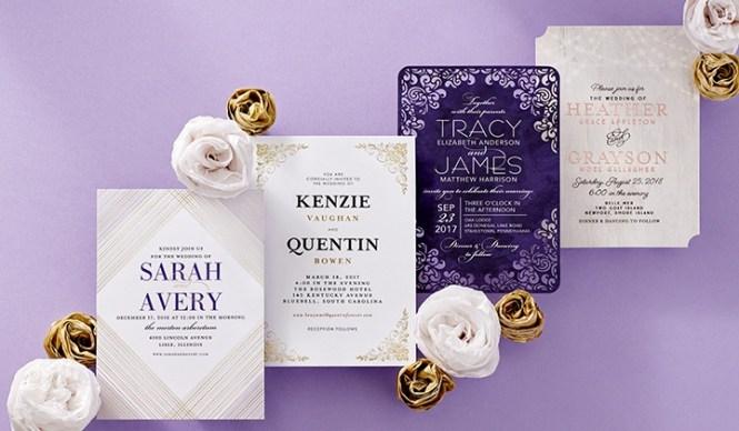 Custom Wedding Invitations Paper Divas Groupon