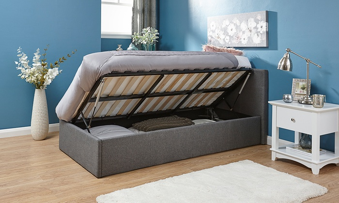 Fabric Ottoman Bed EndSide Lift Groupon