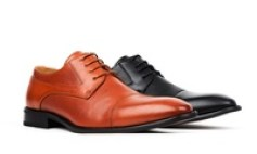 Men's Cap Toe Oxfords Dress Shoes