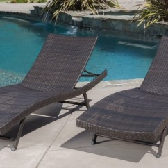 What Are Pool Chairs Made Out Of Green Slipper Chair Up To 44 Off On Outdoor Lounge Set 2 Pc Groupon Goods