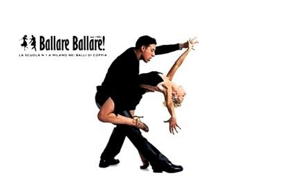 10 lezioni di ballo a scelta da 60 minuti per una o 2 persone alla scuola Ballare Ballare (sconto 88%). Valido in 3 sedi