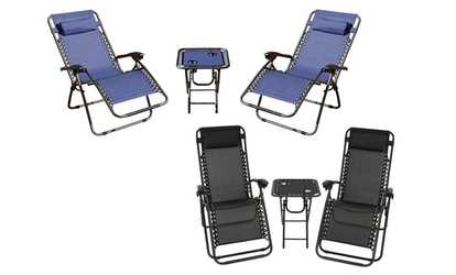 xl zero gravity chair with canopy sliding pillow folding side table casters for chairs patio furniture deals discounts groupon shop and cup holder set 3 piece