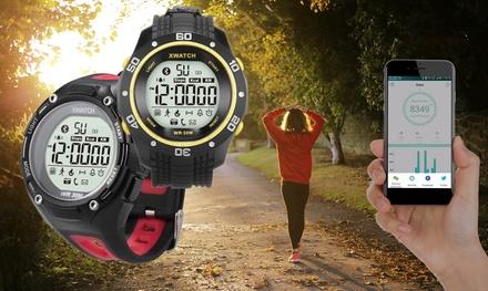 Orologio sportivo Bluetooth Xwatch compatibile con sistemi operativi Android e iOS disponibile in 2 colori