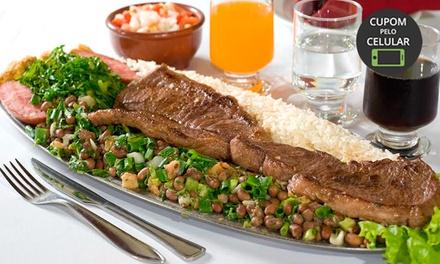 5 opções de menu para até 3 pessoas no Restaurante Feijão de Corda – Ipiranga