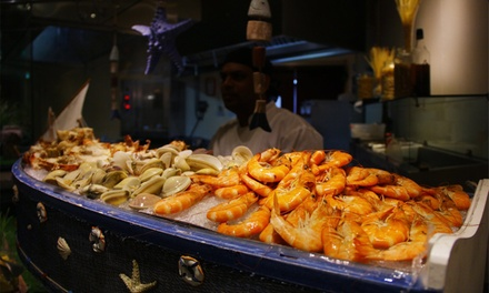 Seafood Buffet with Soft or House Beverages at The Garden Restaurant at 5* Crowne Plaza