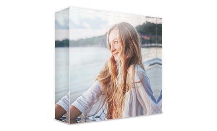 Stampe personalizzate su blocco 3D di vetro acrilico in vari formati con Photo Gifts (sconto fino a 88%)