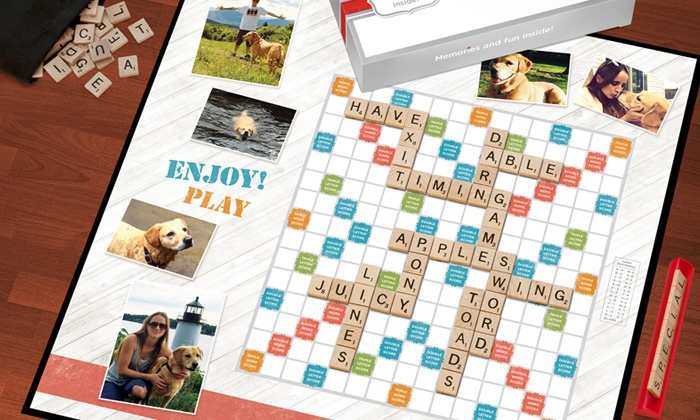personalized scrabble game with