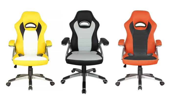desk chair groupon space saver dining table and chairs racecar style office goods