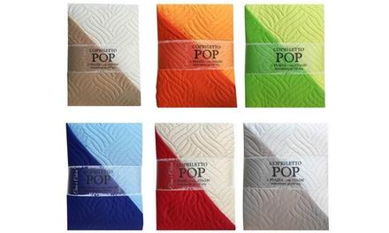 Copriletto trapuntato disponibile in 3 dimensioni e vari colori
