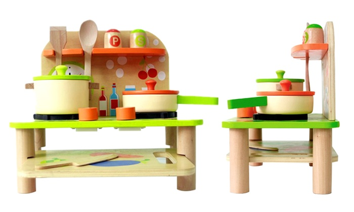 wood kitchen playsets sprayer up to 67 off wooden toy set groupon