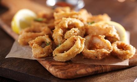 1 kg di fritto misto di pesce con calice o bottiglia di vino per 2 persone al ristorante LOstepizza (sconto fino a 60%)