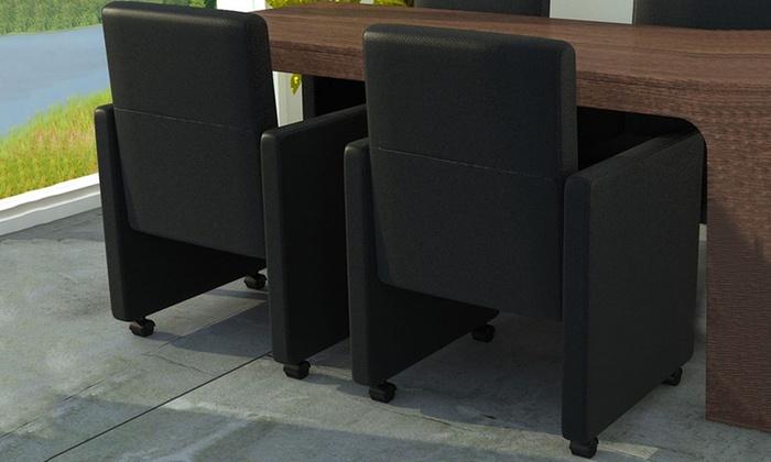 2 tot 6 stoelen met wieltjes  Groupon Goods