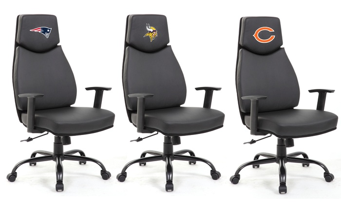 desk chair groupon covers that fit ikea chairs up to 50 off on wild sports nfl office goods