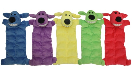 Multipet Loofa Squeaky Mat Dog Toy (3-Pack)