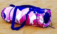 Roll-Up Beach Mat with Pillow | Groupon