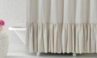 "Gabriella 72""x72"" Ruffle Bottom Fabric Shower Curtain ..."