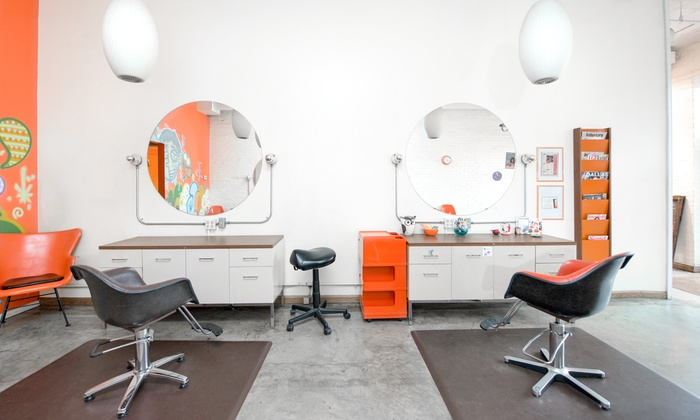 orange chair salon unusual sashes dallas tx groupon 56 off a blowout session with shampoo and deep conditioning