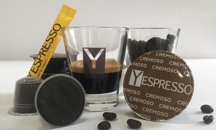 Buono di 50 € o 100 € valido su tutti i prodotti di Yespresso.it. Capsule caffè Nespresso, Lavazza, Dolce Gusto