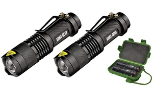 image for Army Gear 500-Lumen Tactical Military Flashlight Set (3-Piece)