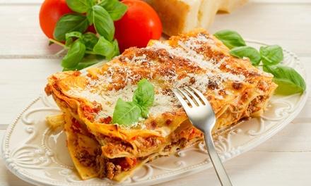 Menu di terra con antipasto, primo, secondo, dolce e uno o 2 litri di vino per 2 o 4 persone al ristorante Bellavita