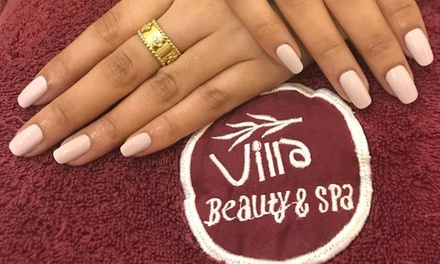 Classic, French or Gel Mani Pedi with Optional Foot Spa Treatment at Villa Beauty & Spa (Up to 64% Off)