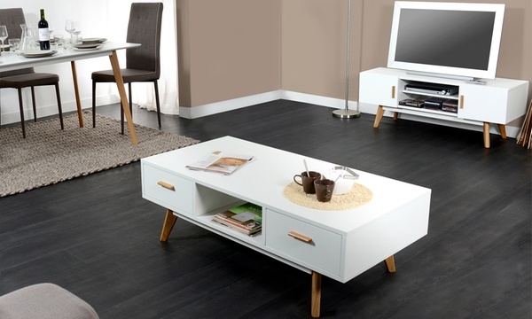 meuble tv et ou table basse scandinave