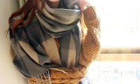 74% Off Oversized Wrap Checked Scarf | Groupon