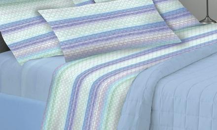 Completo letto estivo in 100% cotone disponibile in 3 misure e vari colori