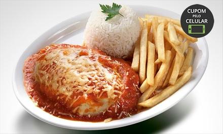 18 opções de prato executivo para 1, 2 ou 4 pessoas no Parmeggio Fast Food – 3 endereços