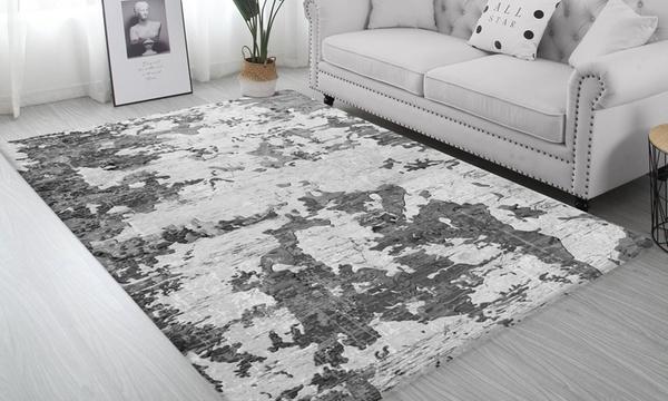 tapis de salon antiderapant moderne