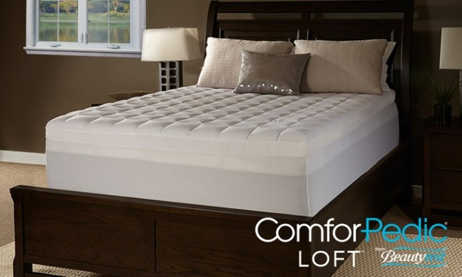 Image Placeholder For Comforpedic Loft 5 Gel Memory Foam And Fiber Mattress Topper